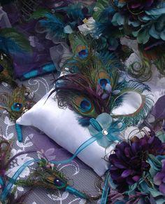 $36 #peaock pillow for ring bearer #wedding #decor