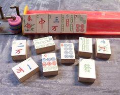 VINTAGE Mah Jongg Tiles 1923 Milton Bradley Mah Jong by punksrus, $12.50