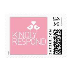 Shop Kindly Respond Wedding Love Birds Postage created by labellarue. Make All, How To Make, Wedding Postage, Snail Mail, Love Birds, Postage Stamps, Adhesive, Best Gifts, Prints