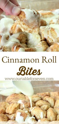 Mui dessert tables · cinnamon roll bites from table for seven breakfast bites, breakfast recipes, breakfast muffins, Breakfast Dishes, Breakfast Recipes, Breakfast Muffins, Köstliche Desserts, Dessert Recipes, Cinnamon Desserts, Cinnamon Drink, Cinnamon Coffee, Plated Desserts