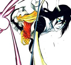 ulquiorra schiffer and hollow ichigo. Lessons I have learned from that episode- Don't mess with either of these dudes... And don't ever kill Ichigo around Inoue