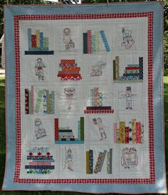 Book Club Quilt | Flickr - Photo Sharing!! - Haven't looked to see if there are instructions or a pattern.