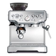 Espresso machine with burr grinder