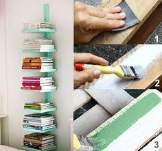 Montar uma prateleira vertical para seus livros é fácil, valoriza a decoração e ainda é uma opção bem barata. As vantagens são diversas.