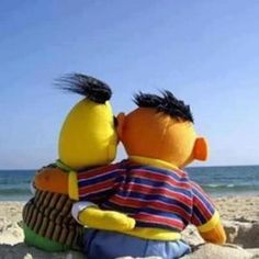 Love is. . .when you say you're Ernie and your hubstar says. . .ok, I'll be Bert