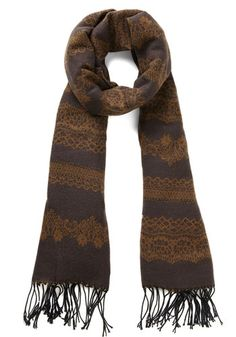 Rake the Best of It Scarf in Bark, @ModCloth