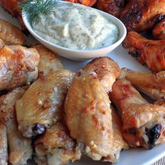 Butter Garlic Wings - The Food Lovers Kitchen