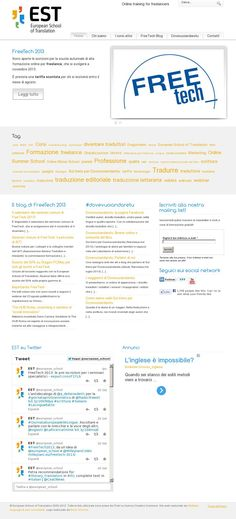 The website 'http://www.e-schooloftranslation.org/' courtesy of @Pinstamatic (http://pinstamatic.com)