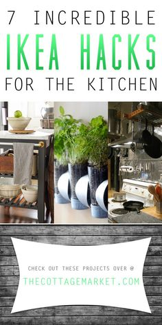 7 Incredible IKEA Hacks for the Kitchen - The Cottage Market #IKEA, #IKEAHacksForTheKitchen, #IkeaKitchenDIYProjects