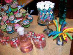 Cute Mad Scientist party for girls.