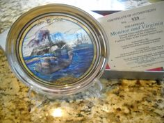 6 Jefferson Pewter Fighting Ships of the Navy Pewter With Stained Glass Plates | eBay $277.50