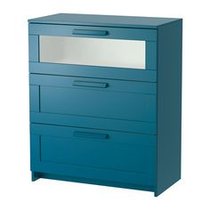 Gute Farbe & Form für meinen gewünschte Ethno Style => IKEA - BRIMNES ¦ dunkel grünblau & Frostglas, 78x96 cm