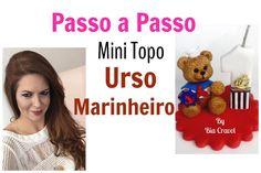 Amores neste vídeo ensino a fazer o Mini Topinho do Urso Marinheiro Os produtos usados neste vídeo vocês encontram na Loja Virtual Atelie Bia Cravol www.atel...
