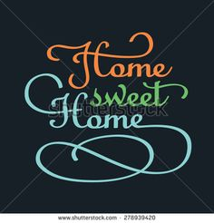 Sign Home sweet home - stock vector