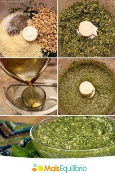 Prepare seu pesto com óleo de abacate! Coloque no processador 1/3 de xícara de chá de óleo de abacate, 1 maço de espinafre fresco, ½ maço de manjericão fresco, ¼ de xícara de chá de pinhão ou nozes, 3 dentes de alho. Agora é só bater tudo e pronto! http://maisequilibrio.terra.com.br/oleo-de-abacate-2-1-1-706.html
