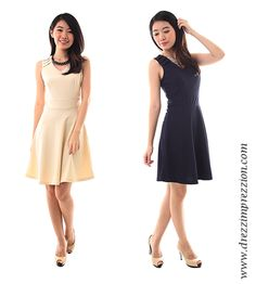 V-neckline Skater Dress from: Drezz Imprezzion