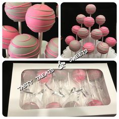 Pink and Gray vanilla cakepops