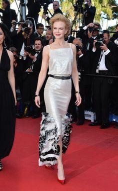"Cannes Film Festival 2013. ""La Venus a la Fourrure"" Premiere: Nicole Kidman in Chanel  #cannes #redcarpet #nicolekidman #chanel #fashion #moda"
