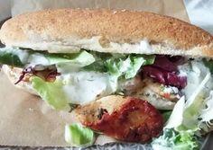 Gyros gluténmentes kifliben   Ágnes Cserepes receptje - Cookpad receptek Sandwiches, Paleo, Chicken, Ethnic Recipes, Food, Essen, Beach Wrap, Meals, Paninis
