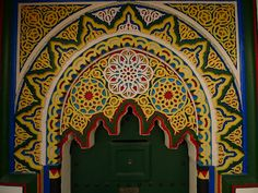 Tangier, Morocco: Colorful Doorway to Vidal Sassoon's current residence