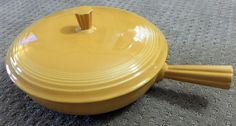 VINTAGE  FIESTA WARE HOMER LAUGHLIN French Covered Casserole YELLOW #HomerLaughlin