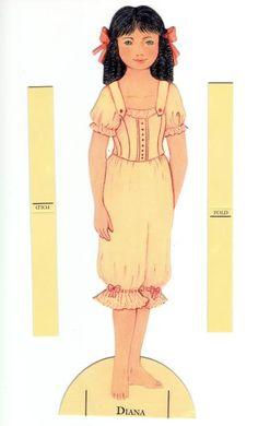 Anne of Green Gables paper doll clothes... Anne fra grønne bakken, hendes veninde Dianna .