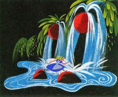 Visual Development from Alice in Wonderland by Mary Blair - disney concepts & stuff Mary Blair, Disney Concept Art, Disney Art, Rabbit Illustration, Illustration Art, Alice In Wonderland Aesthetic, Wonderland Alice, Wonderland Party, Visual Development