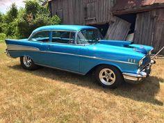 57 Chevy😊💘 Bel Air Car, 1957 Chevy Bel Air, Chevrolet Bel Air, Chevy Muscle Cars, American Classic Cars, Impalas, S Car, Gmc Trucks, Car Photos