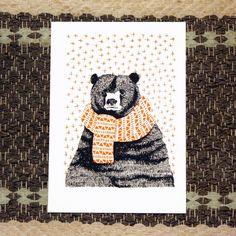 january bear print