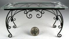 J. Getzan Dollhouse Miniatures Tables Glass Tops