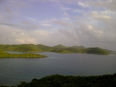 Overlooking Hurricane Hole on St. John Island USVI.