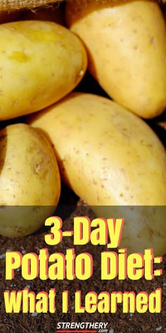 I ate nothing but potatoes for three days. Here is what I learned from a potato diet. potato al horno asadas fritas recetas diet diet plan diet recipes recipes Stomach Fat Burning Foods, Fat Burning Drinks, Low Glycemic Fruits, Healthy Life, Healthy Eating, Healthy Weight, Healthy Meals, Clean Eating, Potato Diet