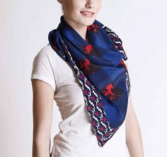 Michel Klein SS2013 Scarf #ModeWalk #luxury #fashion #MichelKlein #scarf #print #mixedprints