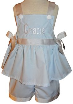 CUSTOM MONOGRAMMED CINDERELLA Dress or Shorts by ChildrensCottage, $52.00
