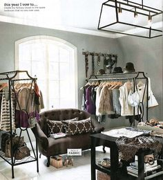 fantasy closet in the spare bedroom that no one ever uses.
