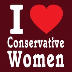 I Love Conservative Women T-Shirt