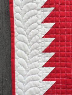 longarm quilting: Red and white Tree Everlasting quilt posted at Katy Quilts