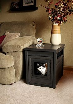 Cool Cat Tree Plans Discreet Litter Box Furniture Reviews Pet Ideas
