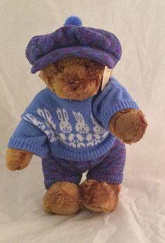 "Dressed bear cap rabbits 16"" by AnneMargaretdesigns on Etsy"
