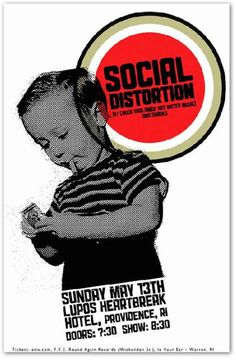 Social Distortion Concert Poster NEW 2011 Original Handbill 11x17