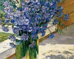 Cornflowers in a ray of sunshine - Константин Юон