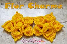 Crochê Tricô: Flor Charme em Crochê