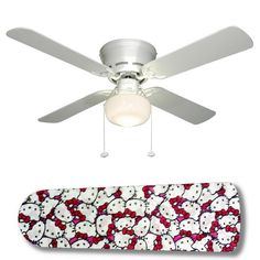 "Hello Kitty Jam 42"" Ceiling Fan and Lamp"