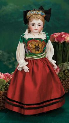 """An All-Original German Bisque Closed Mouth Doll by Simon and Halbig 16"""" (41 cm.)"""