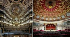 """David Leventiphotographs the interiors of world famousopera houses, capturing the ornate designof the architecture found inside. Using 4x5"""" and 8x10"""" Arca-Swiss cameras, Leventi captures each opera house from the vantage of an operatic singer, photographing the space from the very c"""