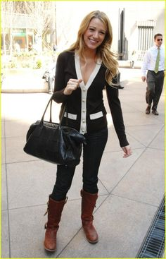 Blake Lively- Love this Cardigan!