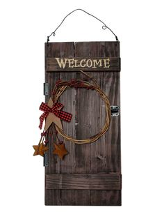 Got some country charm in mind for your next room?  Check out this barn door welcome sign here!  http://www.amazon.com/gp/product/B009WAGYCC/ref=as_li_tl?ie=UTF8&camp=1789&creative=390957&creativeASIN=B009WAGYCC&linkCode=as2&tag=lacrowinne-20&linkId=X6CDJLHKZPVZR3L5
