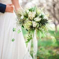 white and green bridal bouquet  #campusfloral  Photo Credit: Cami McIntosh