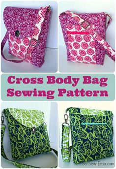 Carry everything you need and stay hands free with this handy Cross Body Bag pattern. Go fancy with smart hardware and adjustable strap, or keep it