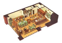 by Sayaka Ouhito.    I squeeeee over isometric-ish concepts like this… just so adorable!
